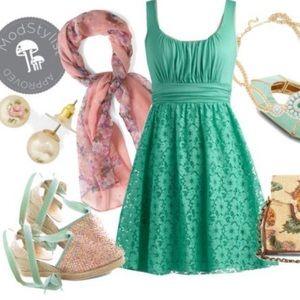 Mint modcloth iced tea dress
